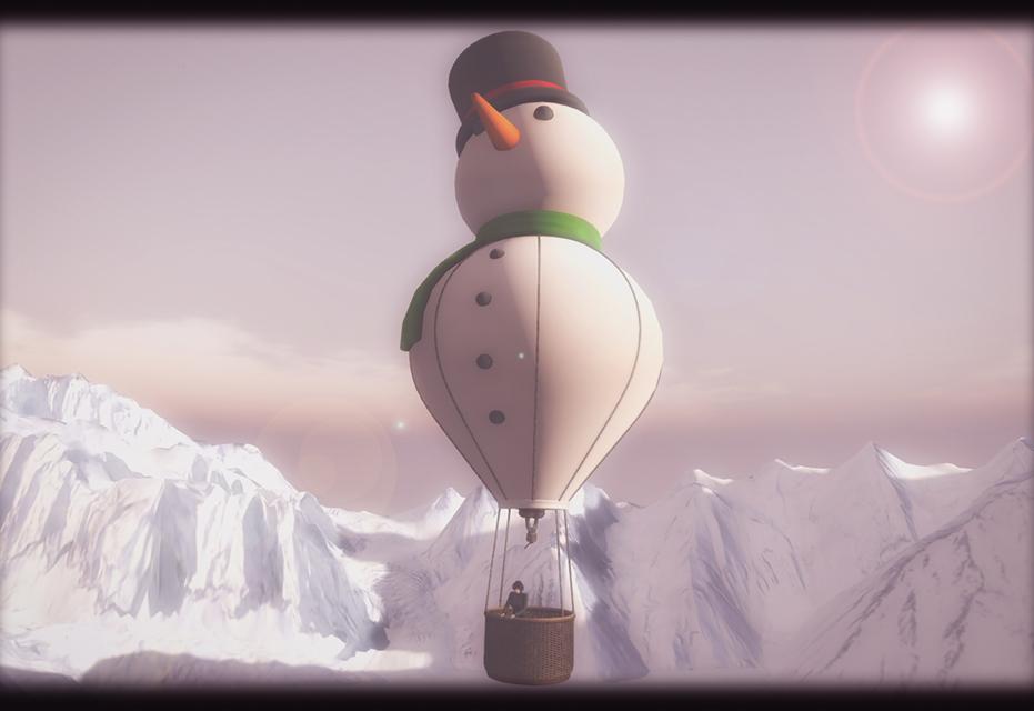 MADPEA - Snowman Hot Air Balloon