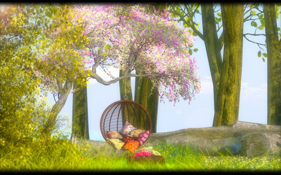 Dreamland Design - DD Orchid Hanging Chair Scene