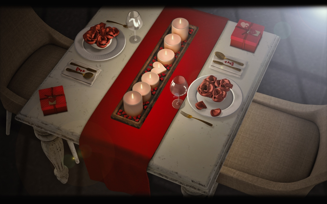MADPEA - 14 Days of Love Calendar - Valentine's Dining Set