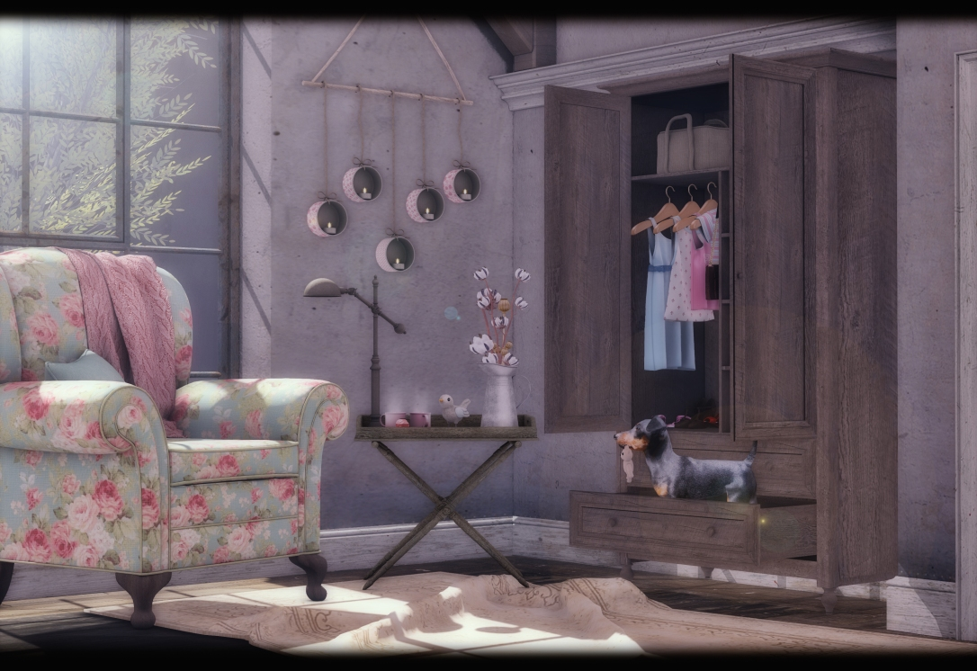 Dreamland Designs - DD Vintage Flowers Chair Set