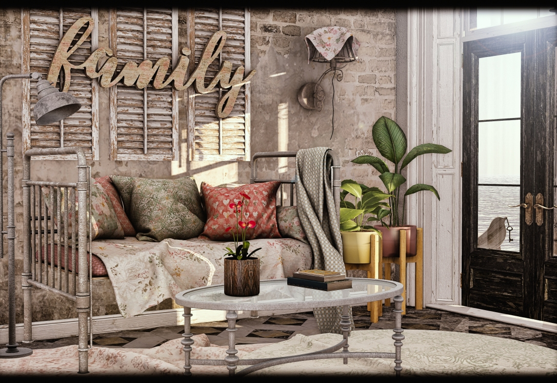 Dreamland Designs - DD Vintage Roses Lovers Daybed Gacha_001