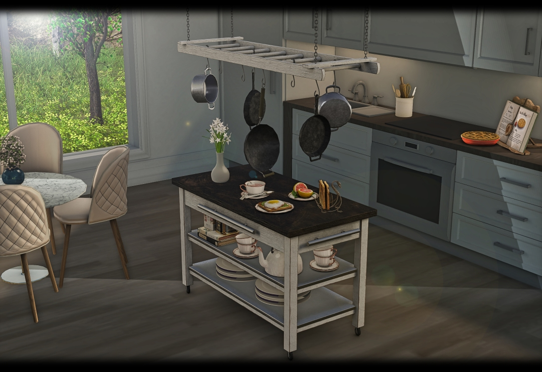 ChiMia - Kitchen Trolley & Rack