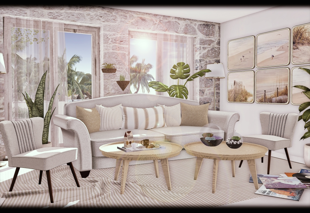 APHRODITE - Mar & Tierra - Coastal Sofa Set