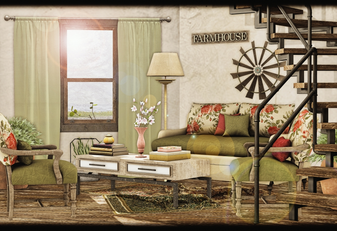 Dreamland Designs - DD Country Vintage Livingroom Set