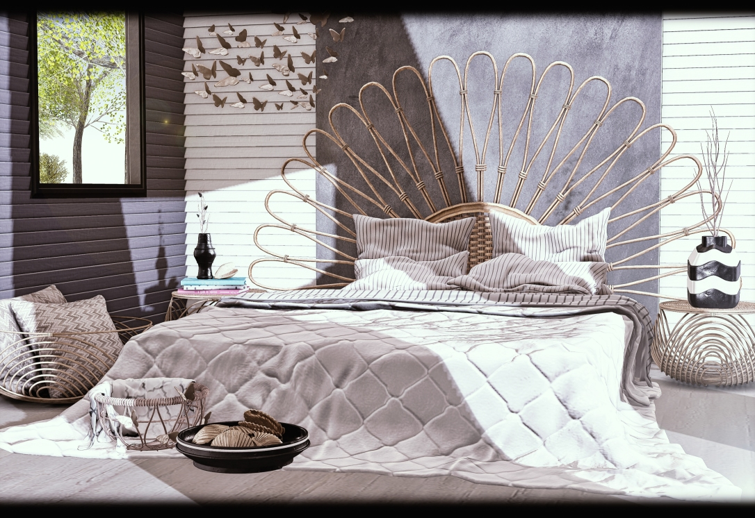 MERAK - Peacock Bed