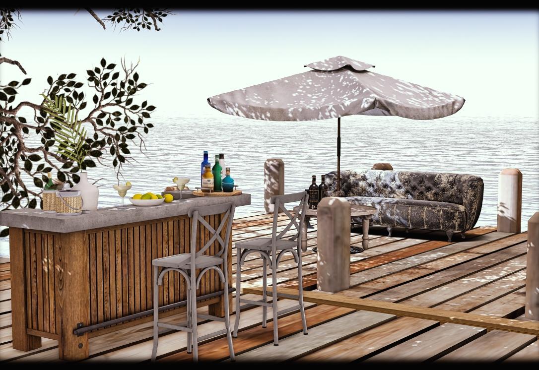 What Next - Palisades Bar, Stools & Decor