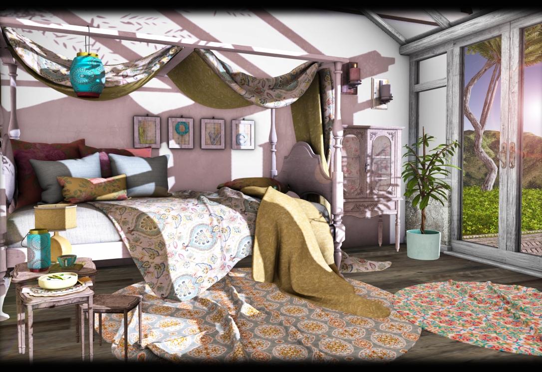 Dreamland Designs - DD Vintage Boho Loft Set with conservatory