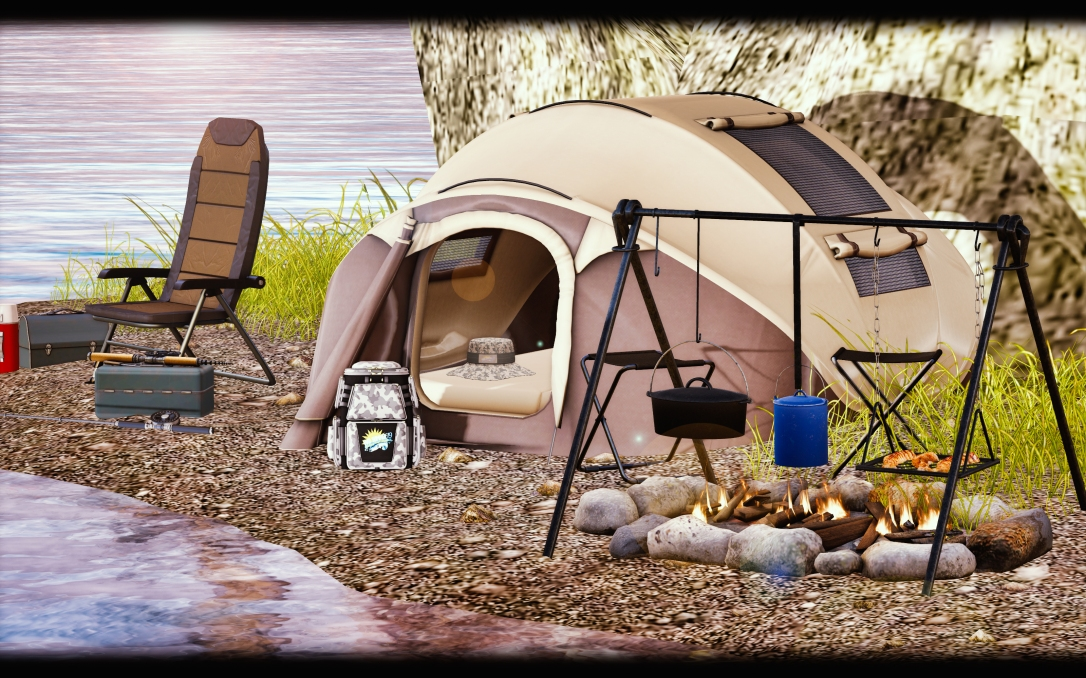 MADPEA - Camping Tent & Campfire