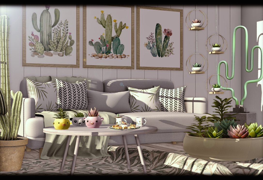 APHRODITE - Heart Homes - Succulent Sofa Set