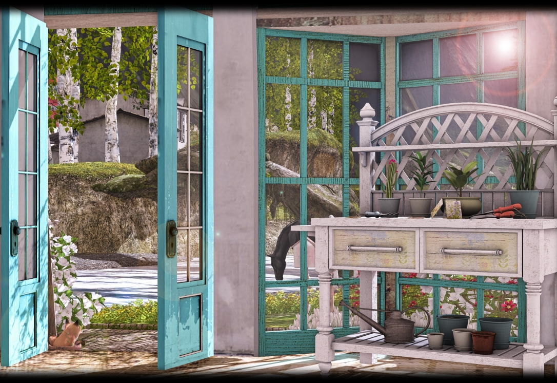 Dreamland Designs - DD Shabby Vintage Garden Table