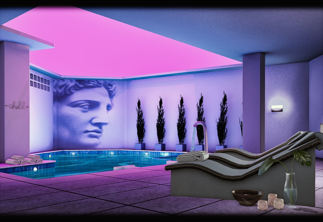 MINIMAL - Neon Pool Skybox