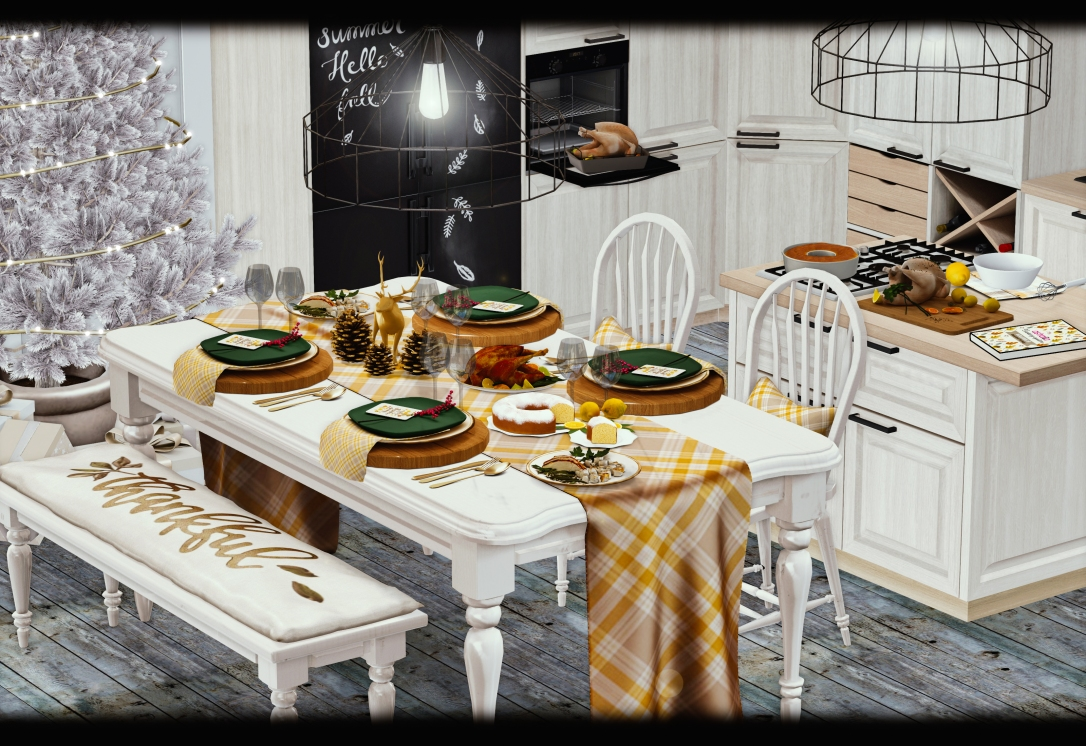 ASTRALIA - Festive traditional Dining Set