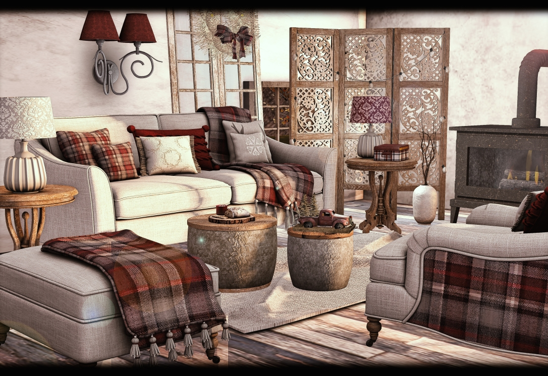 Dreamland Designs - DD Cozy Plaids Livingroom Set GACHA