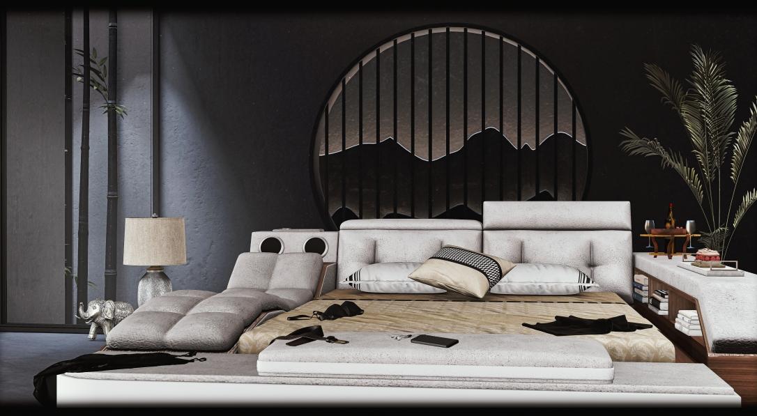 APHRODITE - Modern Multimedia Bed