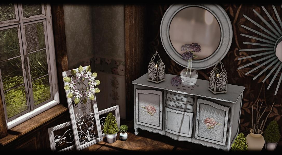 Dreamland Designs - DD Scuffed White Victorian Buffet