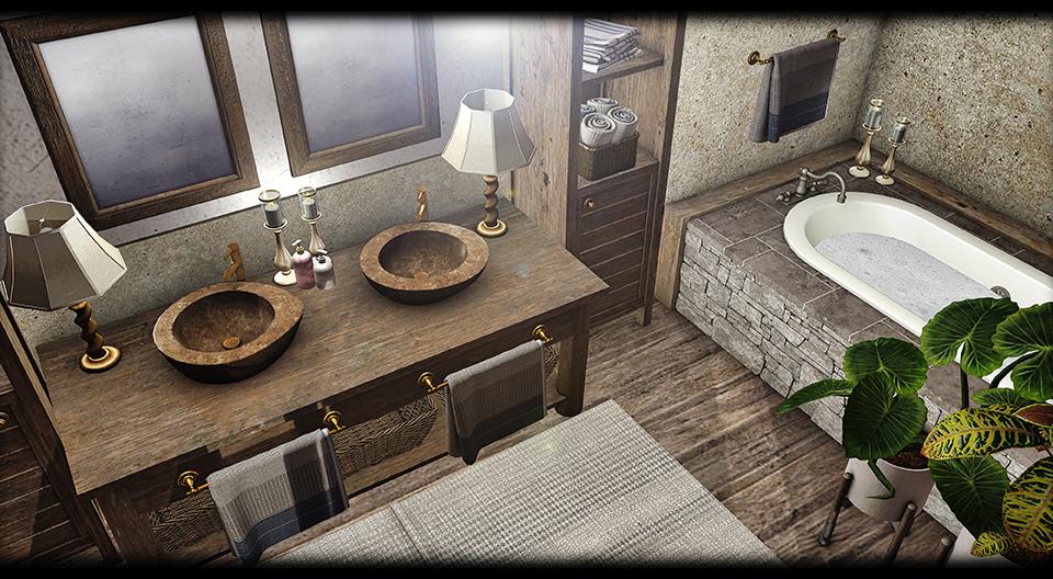 Dreamland Designs - DD Ayala Rustic Bathroom
