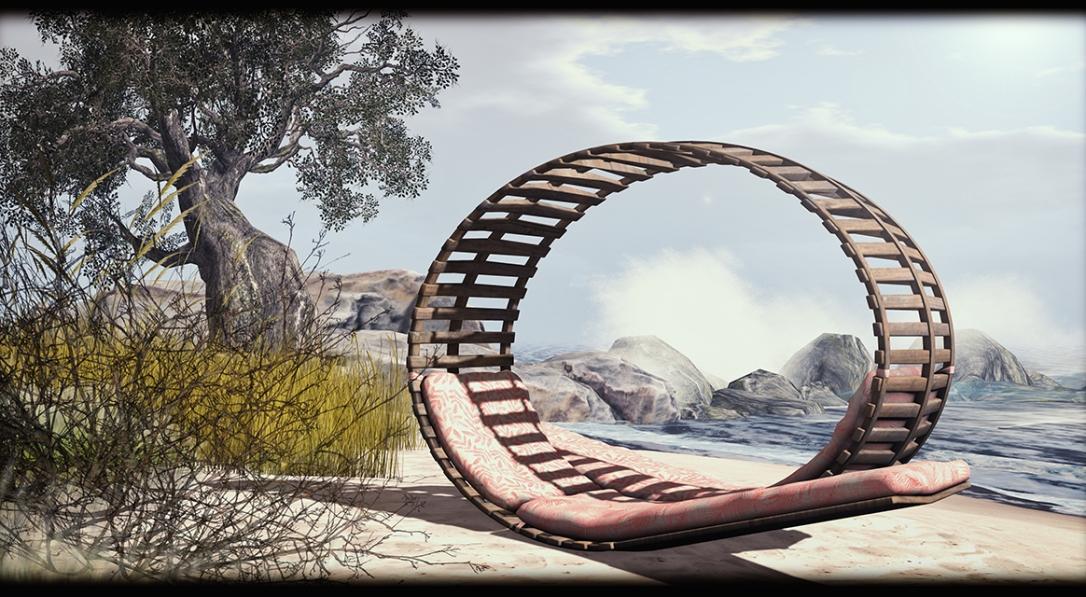 Dreamland Designs - DD Hanakapiai Round Beach Lounger