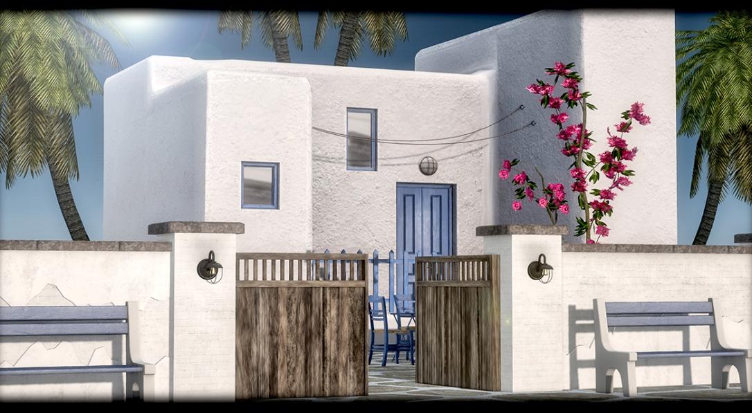 GOOSE - White garden wall